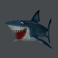 3d model of shark