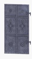 3d model low-poly medieval door