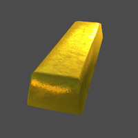 Gold bar (Low poly)