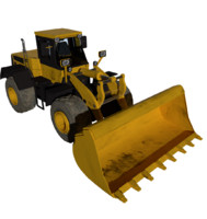 wheel loader load 3d model