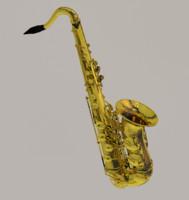 saxophone instrument 3d 3ds