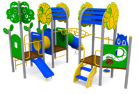 playground kids 3d obj
