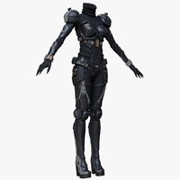 3d sci-fi suit female