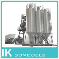 3d model industrial beton plant