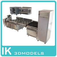 3d commercial kitche technics pack model