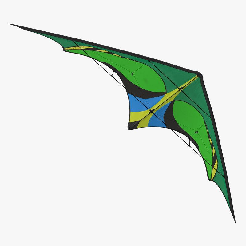 3d model of Green Kite 00.jpg