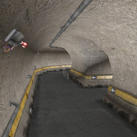 3d model tunnel sewer