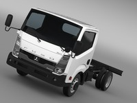 3d mitsubishi fuso canter guts model