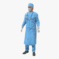 Male Surgeon Mediterranean Rigged