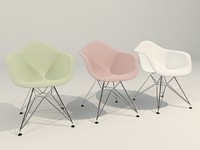 vitra charles eames arm chair 3d max