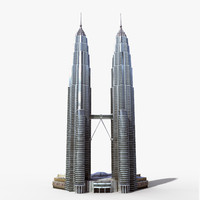petronas towers twin 3d model
