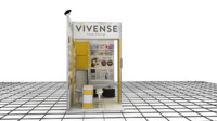 3ds max vivense exhibition design -