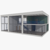 3d model modernist house interior