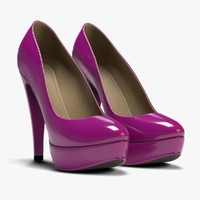 plateau heels 3d obj