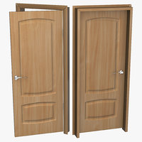 3d solid wooden door