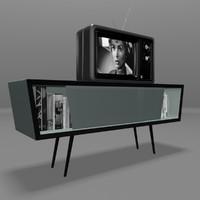 3d retro tv model