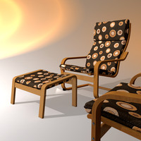 ikea poang chair 3d model
