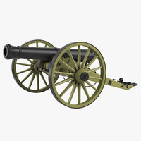 cannon field 12 3d obj