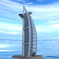 3d burj al arab hotel model