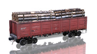 cargo train 12-532 3d model