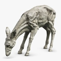 3d max young deer sculpture