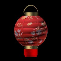 chinese red lantern 3d max