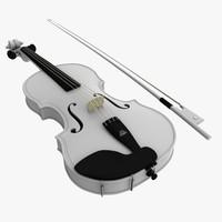 3dsmax realistic white violin