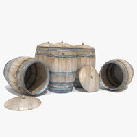 3d barrel wooden bar