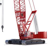 manitowoc 16000 crawler crane 3d max