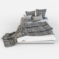 bed linen 3d 3ds