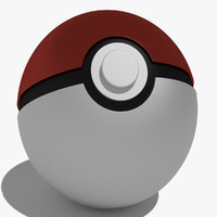 3d pokeball ball poke model