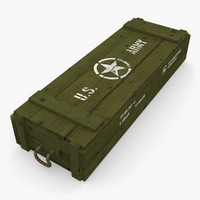 army crate 3d 3ds