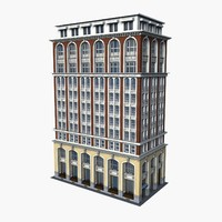 business building 3d model