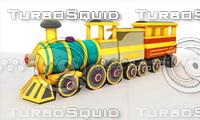 obj cartoon train