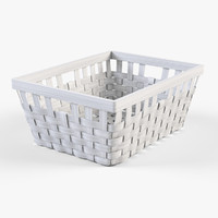 wicker basket ikea knarra 3d max