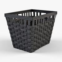 3d model wicker basket ikea knarra