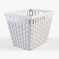 3d model of wicker basket ikea knarra