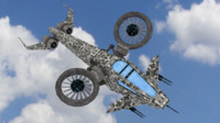 scifi helicopter 3d model