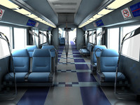 3d max metro interior scene