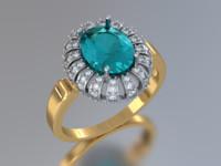 oval diamonds 3d model