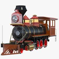 3ds steam train locomotive