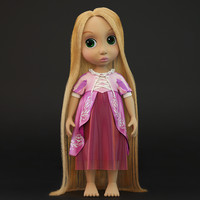 3d rapunzel doll model