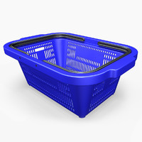 3d model shopping basket