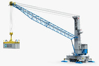 3d model terex gottwald 5 harbour