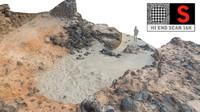 rocky beach 16k 3d max