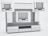 tv wall 3d model