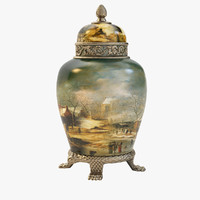 3d model antique vase art