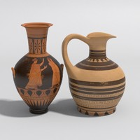 ancient vases greek 3d max