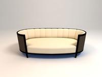 oval sofa 3d max