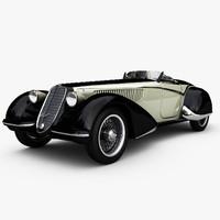 3d model car alfa romeo 8c